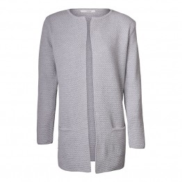 Sibin/Linnebjerg cardigan - MARY SHORT, Melange Grey