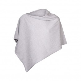 Sibin/Linnebjerg poncho - PARIS, Light Grey 9150