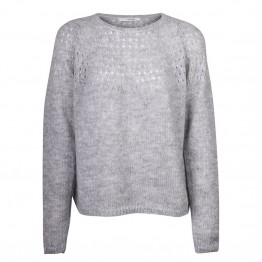 Sibin/Linnebjerg strikbluse - NALA, Sweat Grey