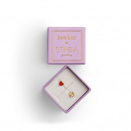 Stine A øreringe - LOVE BOX Earring, Gold