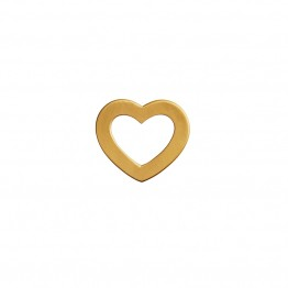 Stine A vedhæng - Open Love Heart Penpant, Gold