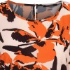 Bruuns Bazaar bluse - Leaves Cava Top, Burnt Copper