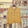 Mos Mosh jakke - Selby Check Jacket, Lemon