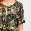 Object bluse - Palm SS Top, Elfin Yellow